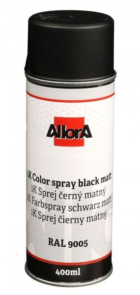 1K AllorA Spraydose Schwarz matt RAL 9005